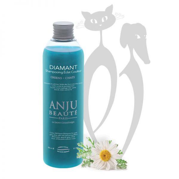 Shampoo per cani manto grigio diamant anju