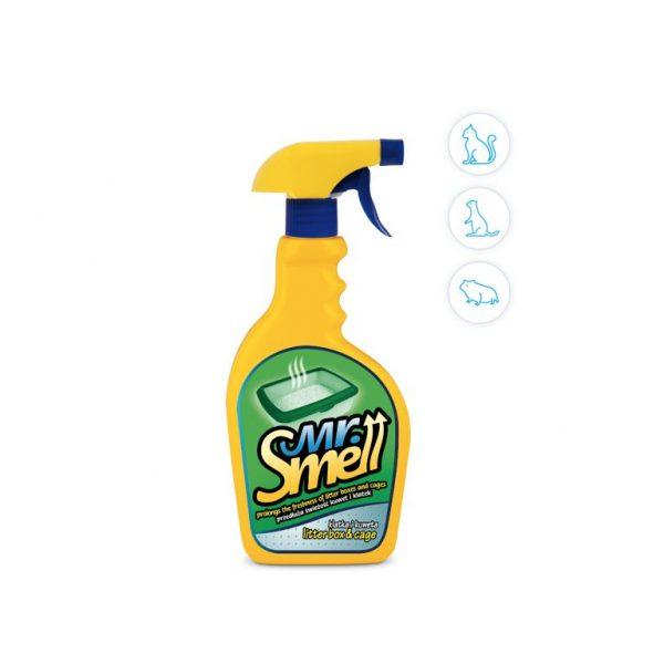 spray lettiera gatto e gabbie cavie e furetti mr smell