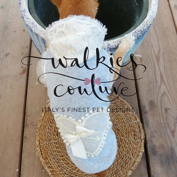 STARDUST GREY-PULL con CUORE WALKIES COUTURE