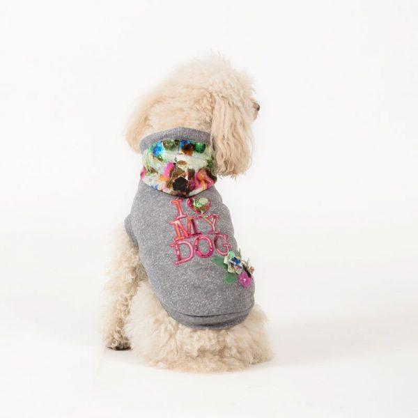 FLORALDREAM-felpa estiva I LOVE MY DOG