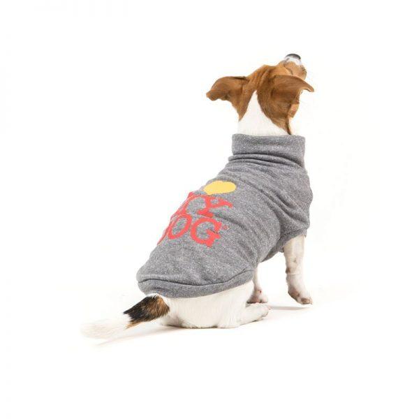 FELPA GIROCOLLO HAPPYSUMMER-felpa leggera I LOVE MY DOG
