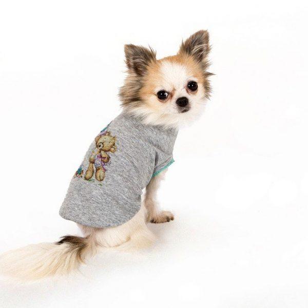 T-SHIRT HUGME-maglietta con stampa orsetto I LOVE MY DOG