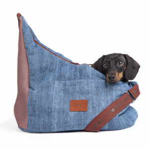 Borsa tracolla invernale Denim I Love My Dog