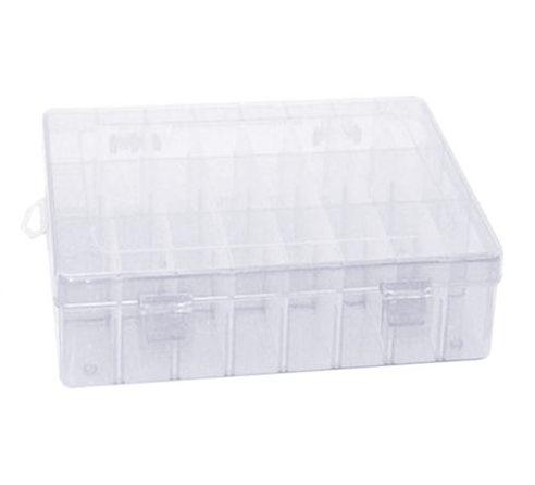 Scatola con scomparti regolabili - organizer in plastica