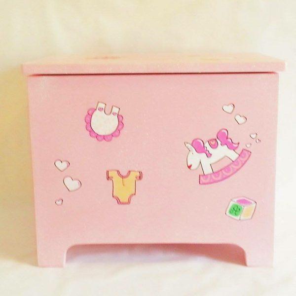 cassapanca in legno rosa