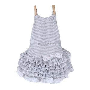 CAMI DRESS GREY STRIPES - vestito