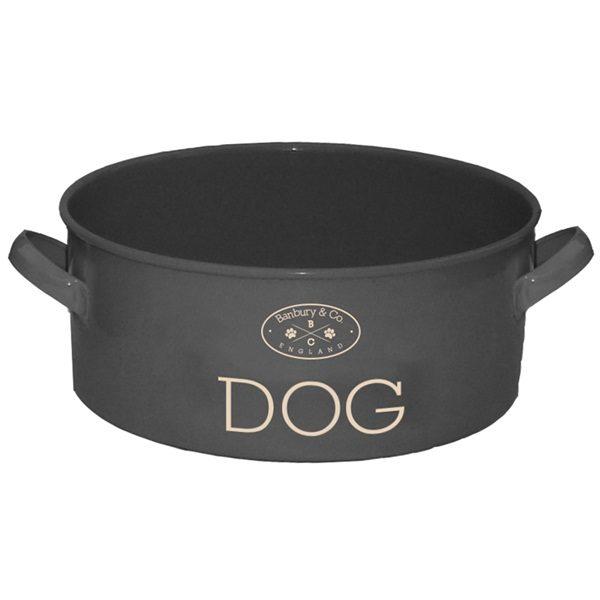 DOG FEEDING TIN BAWL ciotola per CANI in metallo laccato Banbury & Co.