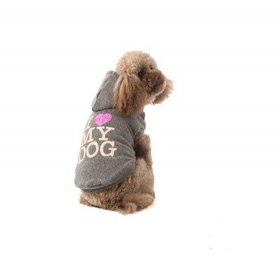 felpa per cani invernale i love my dog