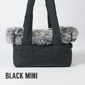 Borsa per cani Louisdog Viva Fur Bag nera misura piccola