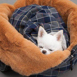 MY FAVOURITE BLANKET CHECK NAVY PLAID copertina Louisdog