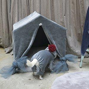 PEEKABOO VELOUR Deep Blue cuccia Louisdog