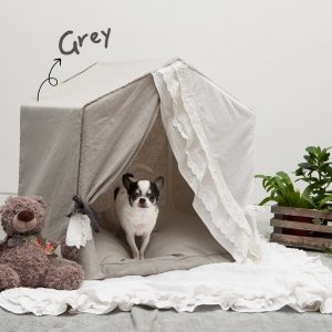 PEEKABOO LINEN SECRET GREY cuccia Louisdog