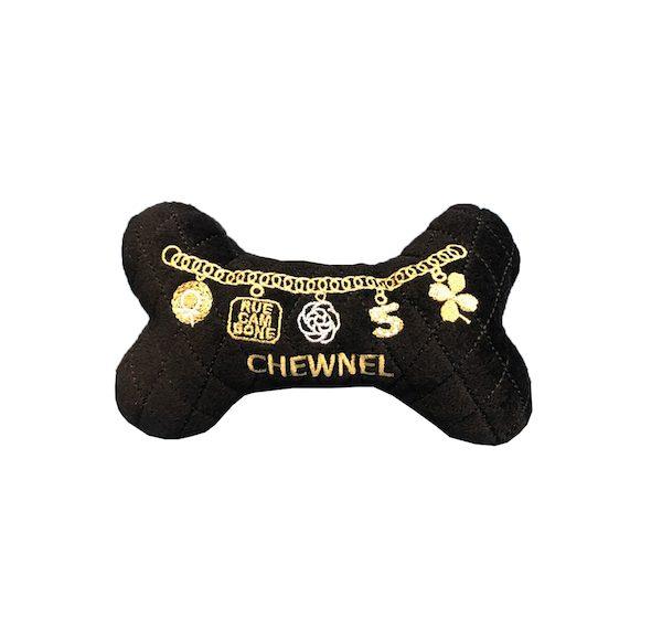 Osso peluche Chanel gioco per cani Chewnel Bone Dog Diggin designs