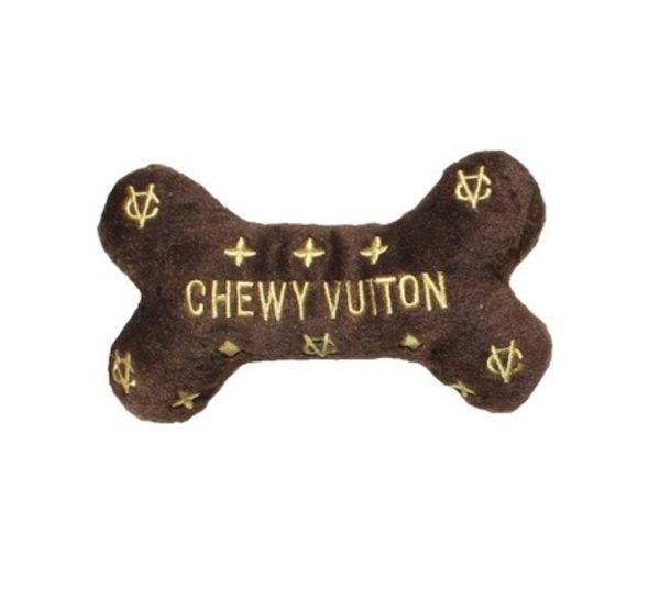 Osso peluche Vuitton - Chewy Vuitton Bone - Dog Diggin designs