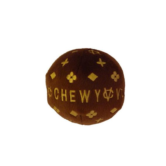 Pallina per cani Vuitton - Peluche Chewy Vuitton Ball - Dog Diggin Design