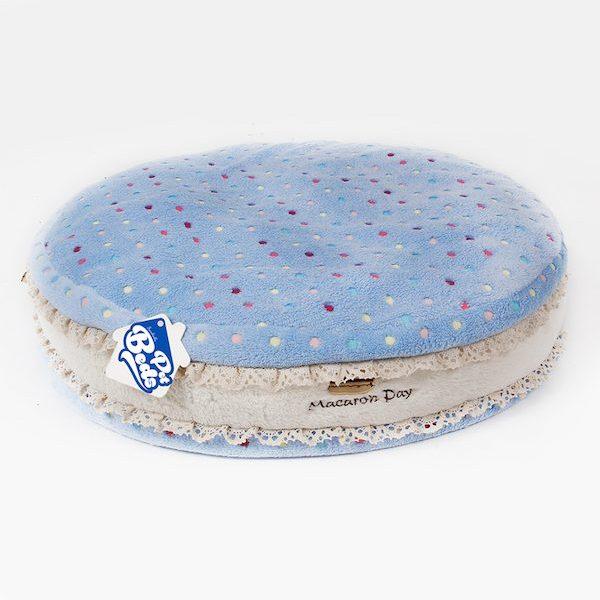 cuscino morbido ferribiella macaron azzurro per cani e gatti
