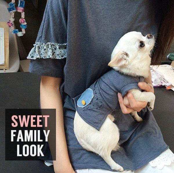 Maglietta per chihuahua doggy organic louisdog