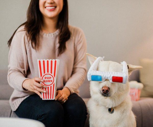 gioco per cani play occhiali 3D hollywoof cinema